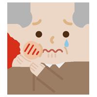 虫歯が痛む高齢者の男性のイラスト1