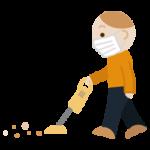 掃除機をかける若い男性のイラスト3