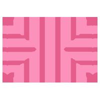 ピンクのハートのフレームのイラスト