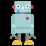 ロボットが泣いているイラスト