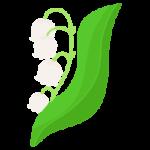 すずらんの花のイラスト