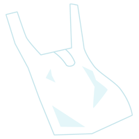ビニール袋のプラゴミのイラスト
