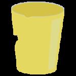 コップのプラゴミのイラスト