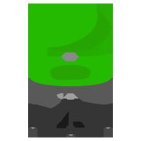 グリーンのデスクチェアのイラスト