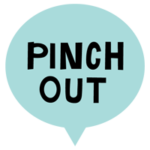 PINCH OUTの文字アイコンのイラスト