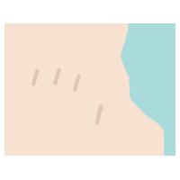 ピンチアウトのジェスチャーアイコンイラスト(左手)
