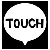 TOUCHの文字アイコンのイラスト(黒い線)