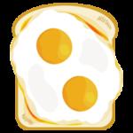 双子の目玉焼きトーストのイラスト
