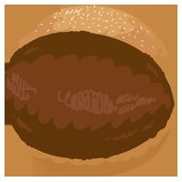 チョコのマリトッツォのイラスト