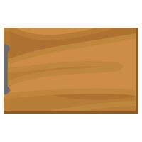 木製のまな板のイラスト