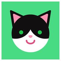 ハチワレ猫のアイコンイラスト2