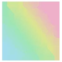 虹色の雪の結晶のアイコンのイラスト1