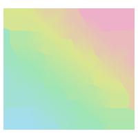 虹色の雪の結晶のアイコンのイラスト2