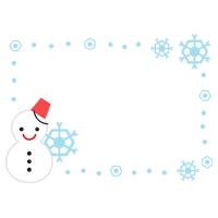 雪だるまのフレームのイラスト