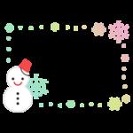 雪だるまのフレームのイラスト2
