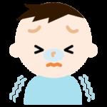 寒そうな表情の男の子のイラスト