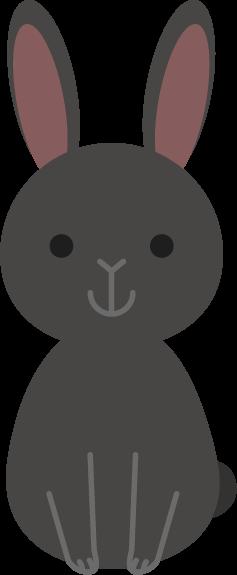 うさぎのイラスト(黒)