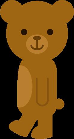 クマのイラスト(横)