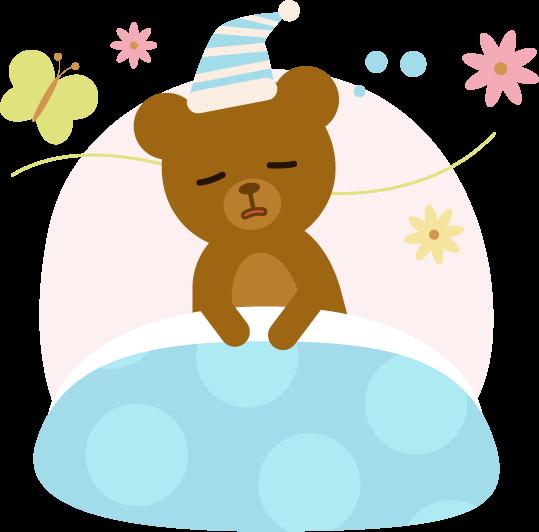 寝ぼけているクマのイラスト2