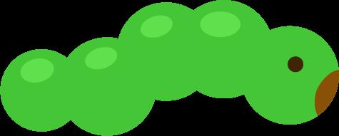 芋虫のイラスト(緑)