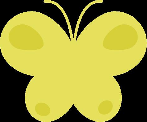 蝶のイラスト(黄色)