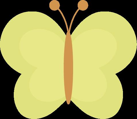 蝶々のイラスト(黄色)