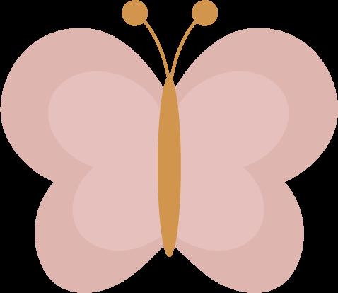 蝶々のイラスト(ピンク)