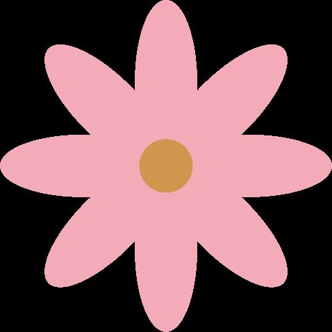 花のイラスト(ピンク)