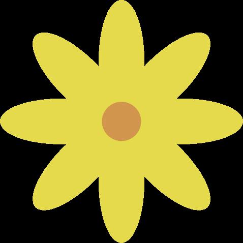 花のイラスト(黄色)