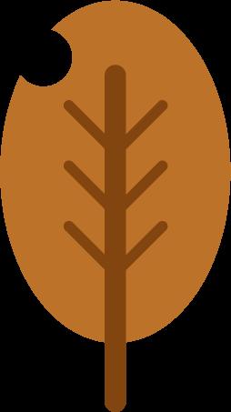 枯れ葉のイラスト(虫食い)