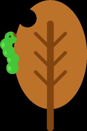 虫と枯れ葉のイラスト