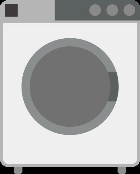 コインランドリーの洗濯機のイラスト(空・シンプル)