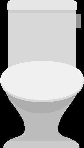 蓋が閉まっているトイレのイラスト