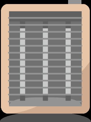カーボンヒーターのイラスト(電源オフ)