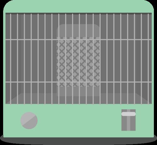石油ストーブのイラスト(電源オフ)