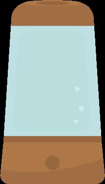 加湿器のイラスト(電源オフ)
