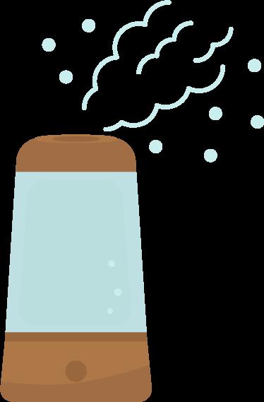 加湿器のイラスト(電源オン)