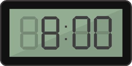 デジタル置き時計のイラスト2