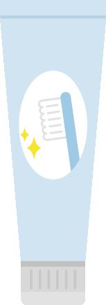 チューブの歯磨き粉のイラスト1