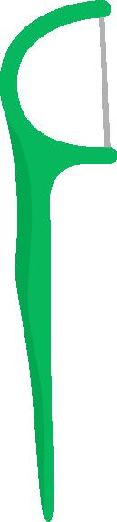 糸ようじ、フロスのイラスト(緑色)