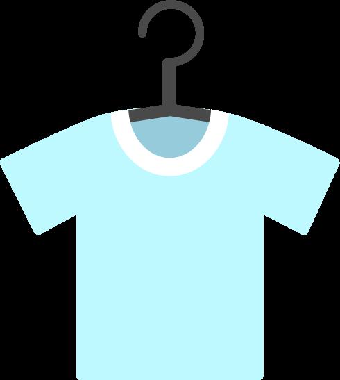 洗濯物のイラスト(青Tシャツ)