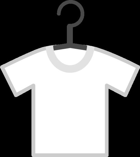 洗濯物のイラスト(白Tシャツ)