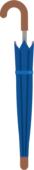 長い傘のイラスト