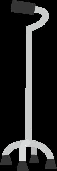 歩行用の多脚杖のイラスト