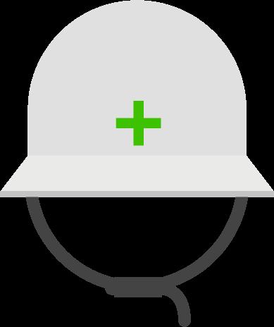 防災ヘルメットのイラスト
