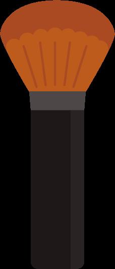 チークブラシのイラスト