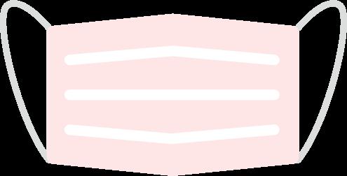 ピンクのマスクのイラスト