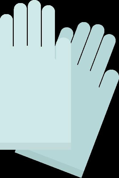 水色のゴム手袋のイラスト