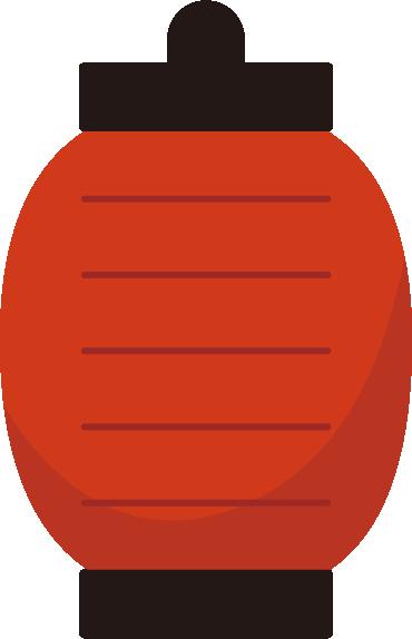 赤い提灯のイラスト1