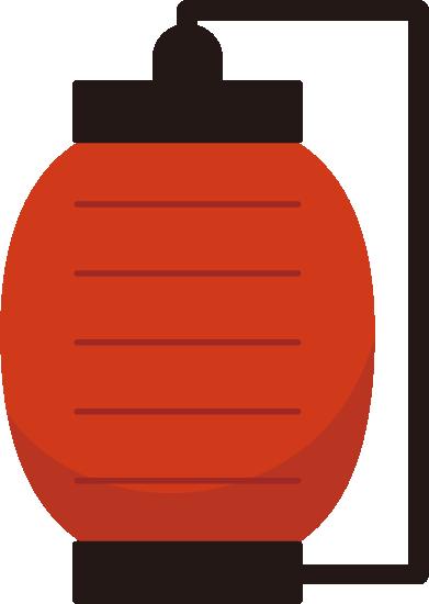 赤い提灯のイラスト2